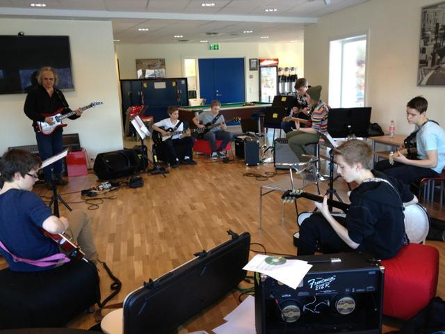 Improsation workshop for guitar. In the jam