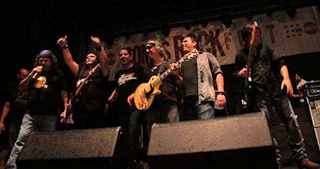 The members of Khaos in somos rock rock fest.