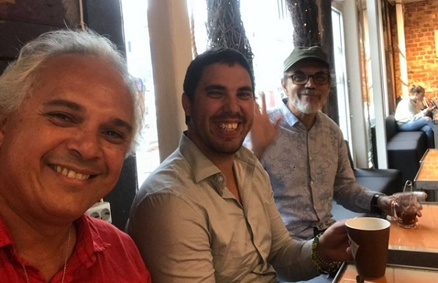 Issa Molina, Rafael Reyes and Jun Carlos Weishaupt